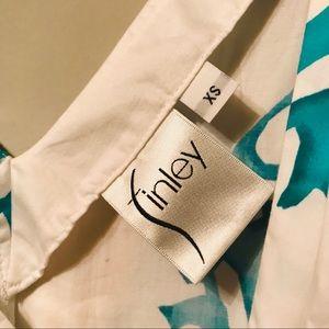finley Tops - FINLEY Teal Coral Design Peplum Tank Blouse